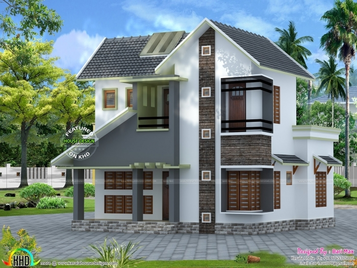 Marvelous Home Architecture: Slope Roof Low Cost Home Design Kerala And Floor Kerala House Plans Low Cost Plan Photos Picture