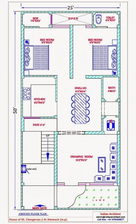 Marvelous Marvellous 25×50 House Plan Photos Best Inspiration Home Design Maps Of House 25*50 Picture