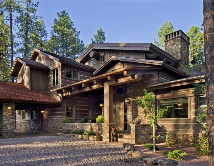 Marvelous Rustic Mountain Home Designs - Homes Design Contemporary Rustic Mountain Home Plans Photo