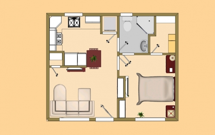 """Marvelous Small House Plan Under 500 Sq Ftgood For The """"guest House"""" To Small House Plans Under 500 Sq Ft Indian Style Photo"""
