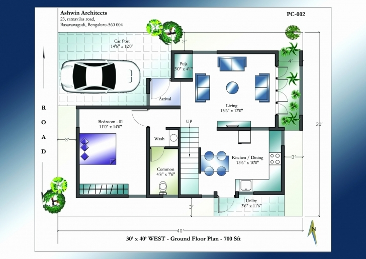 Most Inspiring 30×40 House Plans India New Duplex House Plan For North Facing Plot 22 X 40 House Plans North Facing Image