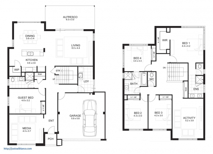 Most Inspiring 4 Bedroom Two Storey House Plans Beautiful 6 Bedroom House Plans 10 Simple 4 Bedroom House Plans 2 Story Image