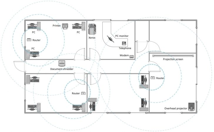 Most Inspiring Building Plans Office Layout Wireless Network Plan Sample - Building House Plan Drawing Samples Image