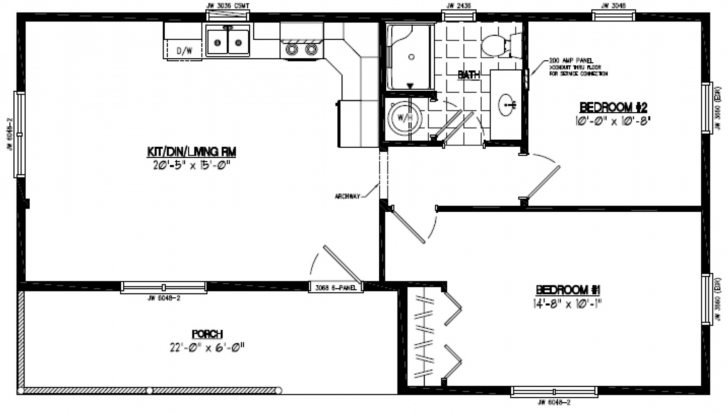 Most Inspiring Certified Homes | Frontier Style Certified Home Plans 22 X 40 House Plans Image