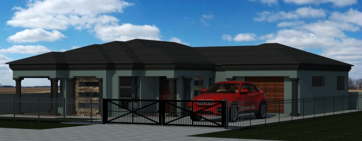 Most Inspiring Home Architecture: House Plan Mlb My Building Momchuri 3 Bedroom 3 Bedroom Tuscan House Plans In Limpopo Image