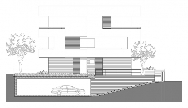 Most Inspiring House Elevation Plan Plans Planner Section Modern | Carsontheauctions Modern Plan And Elevation Photo