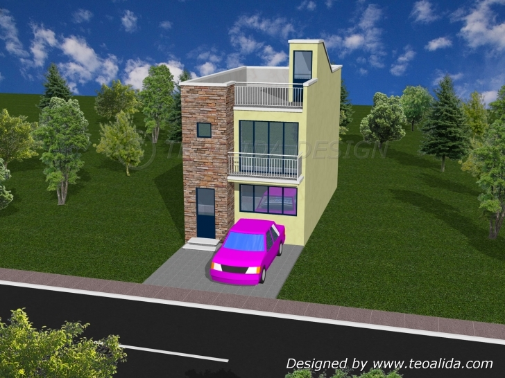 Most Inspiring House Floor Plans 50-400 Sqm Designed By Teoalida | Teoalida Website 15×50 House Plan 3D Photo