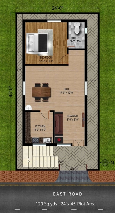 Most Inspiring House Plan For 120 Square Yards Best Of 160 Square Yards House Plan 17 X 45 House Plans Image