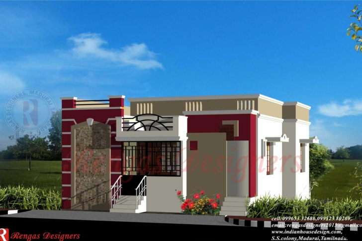Most Inspiring Indian Single Floor Home Front Design Fresh On Wonderful Simple One Simple Single Floor Home Front Design Pic