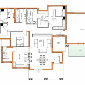 4 Bedroom Tuscan House Plans