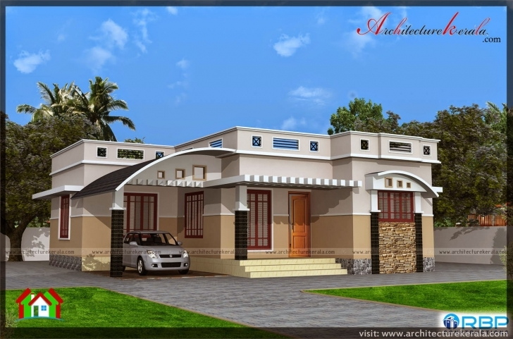 Must See 1000 Sqft Single Storied House Plan And Elevation - Architecture Kerala Kerala House Elevation Ground Floor Photo