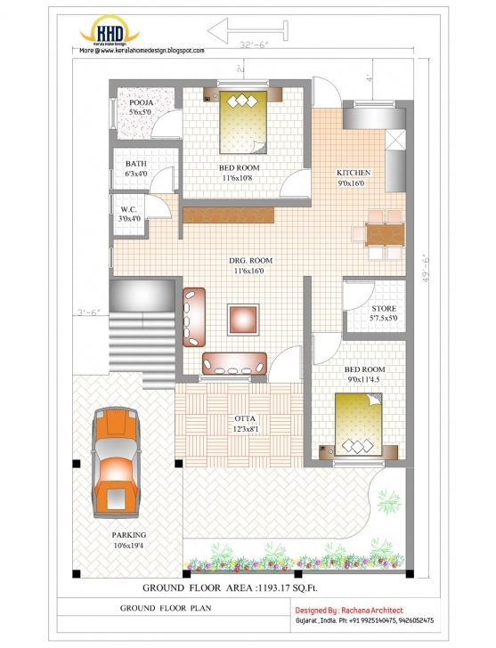 Must See 2 Bedroom House Designs In India Simple House Plan With 2 Bedrooms In India Pic