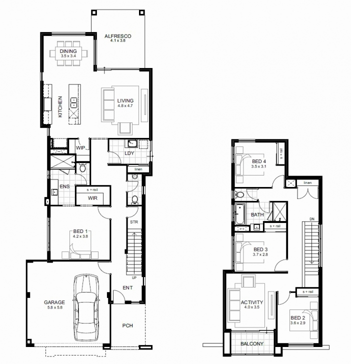Must See Double Storey House Plan In Sa Best Of Double Storey 4 Bedroom House 4 Bedroom Sa Photo