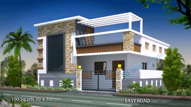 Must See House Plan Design 15 X 50 - Youtube 15*50 House Front Elevation Picture
