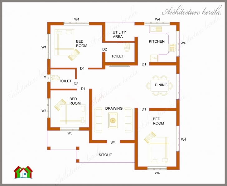 Must See Kerala Model House Plans 1500 Sq Ft Luxury 1000 Sq Ft Floor Plans 1000 Sq Ft House Plans 3 Bedroom Kerala Style Pic