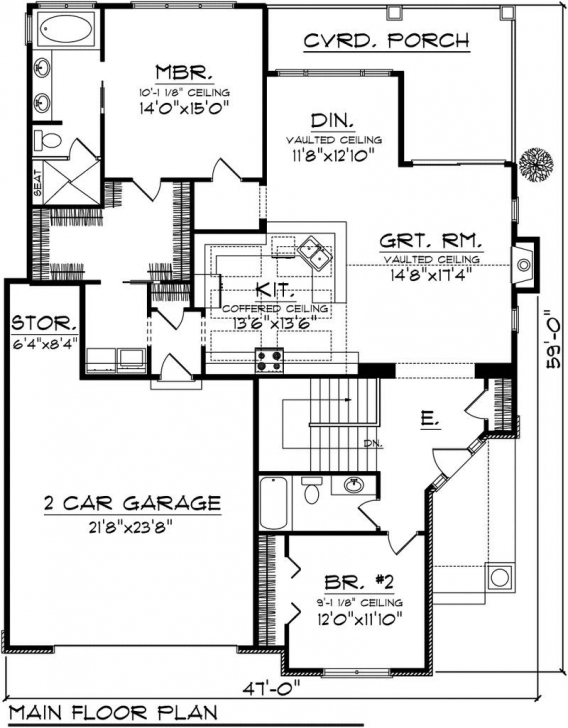 Must See Small 2 Bedroom House Plans With Garage Homes Zone Entrancing Simple Simple House Plan With 2 Bedrooms And Garage Image