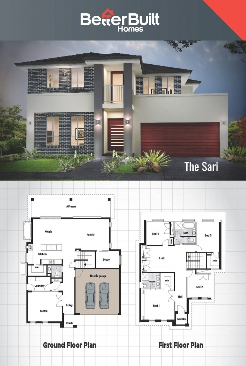 Must See The Sari: Double Storey House Design 301 Sq.m – 12.1M X 16.5M 2 Bedroom Rdp House Plan Picture