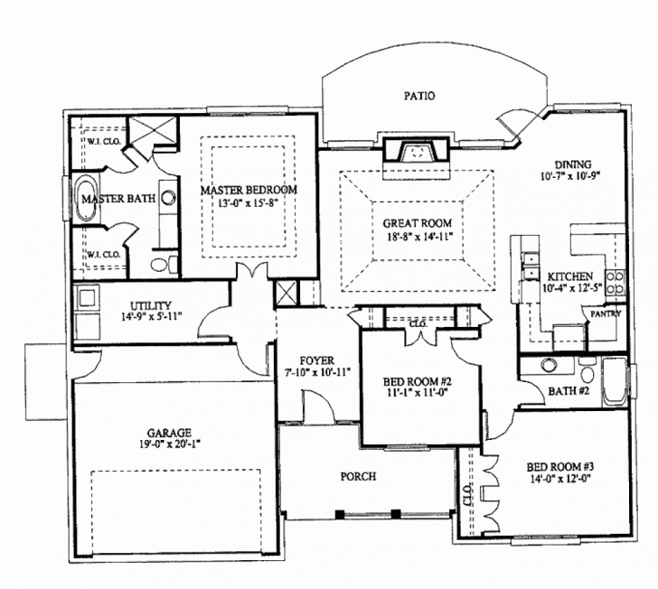 Must See Three Bedroom House Plans Philippines Awesome 3 Bedroom Bungalow Three Bed Room Floor Plan In Nigeria Pic