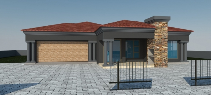 Outstanding 3 Bedroom House Plans With Double Garage   Theworkbench 3Bedroom Tuscany House Plan Image
