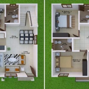 50*30 North Facing House Plans
