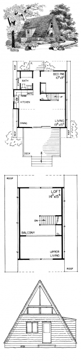 Outstanding 51 Best A-Frame House Plans Images On Pinterest   Architecture A Frame House Plans With Loft Image
