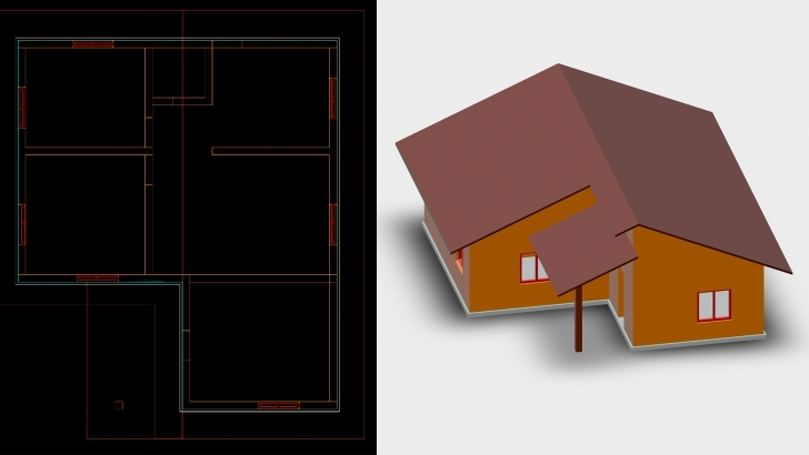 Outstanding Autocad: 2D & 3D Elevations Autocad 2D Plan And Elevation Image