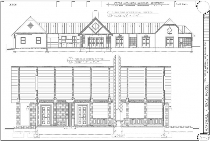 Outstanding Drawings Autocad Residential Building Plan Section Elevation Dwg Image