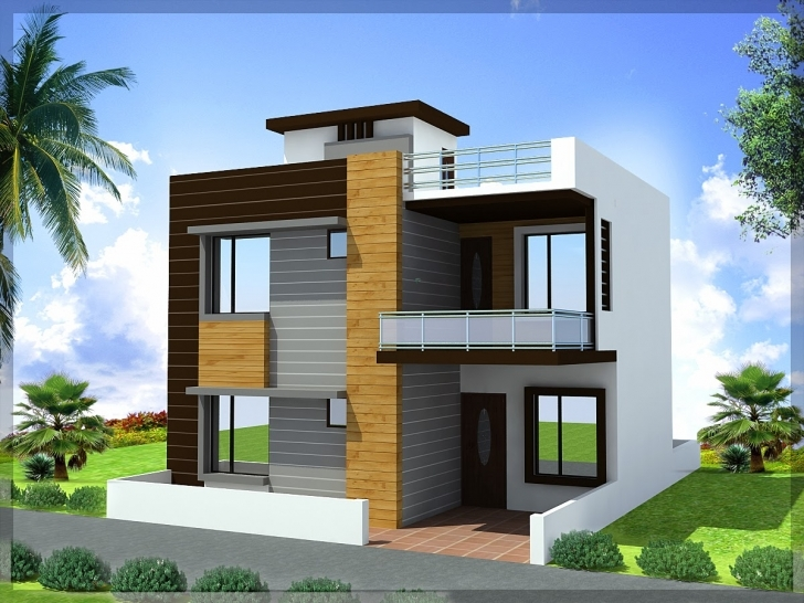 Outstanding Duplex House Plans 30×45 | Ghar Planner Front Elevation 30*30 Photo