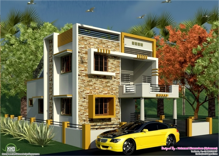 Outstanding Eco Friendly Houses: South Indian Style New Modern 1460 Sq. Feet South Indian Style Small House Plans With Photos Picture