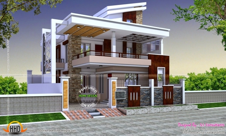 Outstanding Exterior Design Floor Plan And Exterior Design Modern Hd For House New House Plans 2017 India Photo