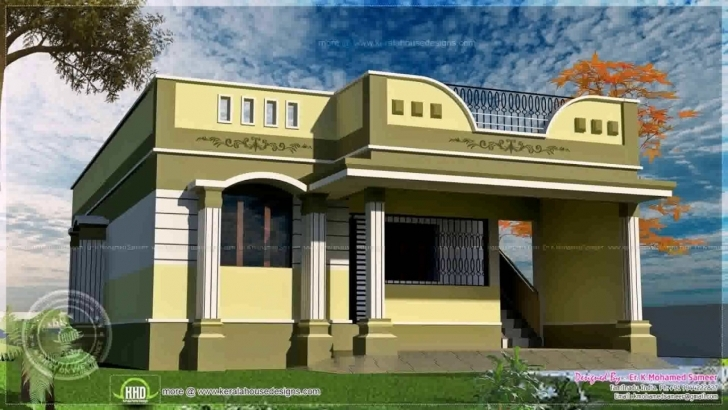 Outstanding House Designs Photos In Tamilnadu - Youtube Simple Single Floor House Front Design Picture