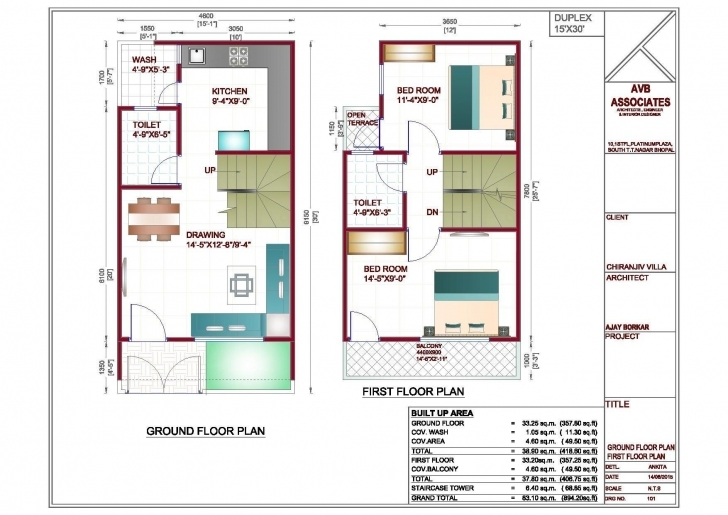 Outstanding House Map Design For 30 50 Plot Elegant 20—50 House Design India New 20*50 Plot Design Photo
