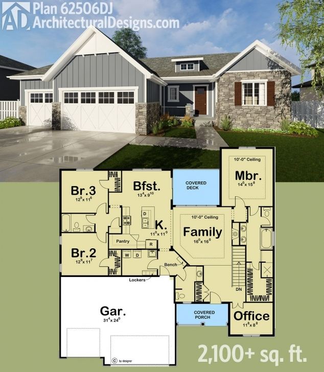 Outstanding Plan 62506Dj: All The Basics And More | Bungalow, Square Feet And Bath Pictures Of 2100 Sq Feet Image