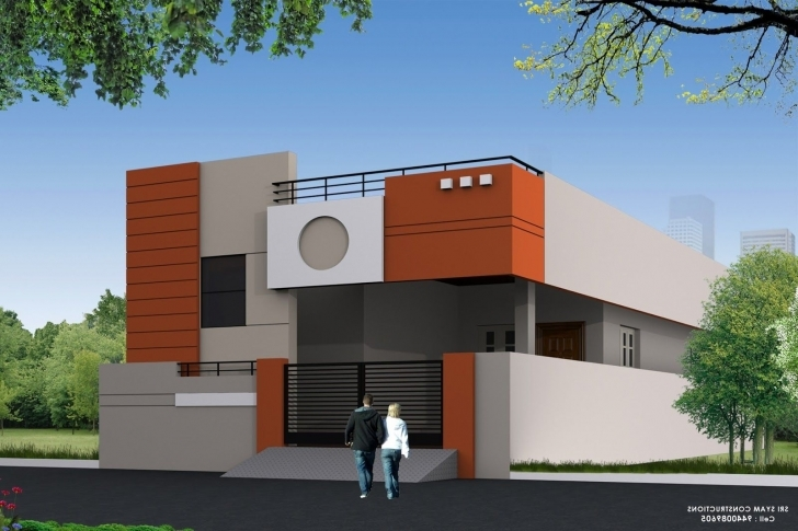 Outstanding Single Floor Elevation Photos | Smallest House | Pinterest | Photo House Elevation Designs For Single Floor Picture