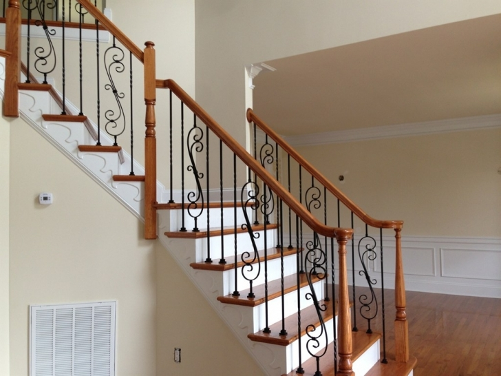 Outstanding Wrought Iron Stair Railing Ideas — New Home Design : Elegance And Siri Iron Railing Picture