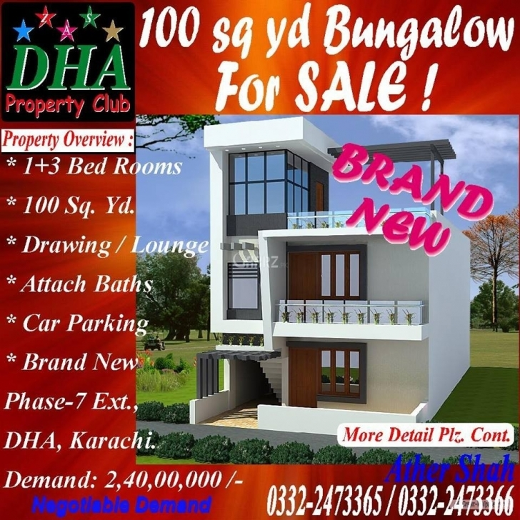 Picture of 100 Square Yard House For Sale In Dha Phase-7 Karachi - Aarz.pk 100 Square Yard House For Sale Image
