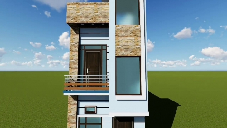 Picture of 12 Feet Front Elevation - Youtube 15×50 House Elevation Image