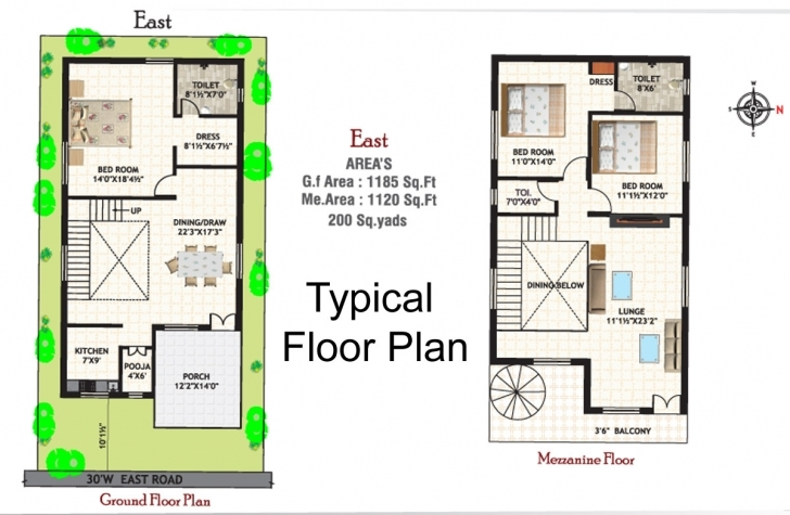 Picture of 20×30 Duplex House Plans South Facing Unique 20 40 Duplex House Plan 22*40 House Plan South Facing Image