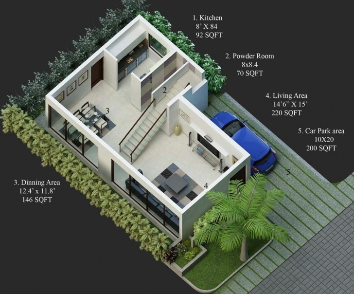Picture of 30 40 Site Duplex House Plan Rare Fresh In Luxury North Plans 20X30 3D House Plans Photo