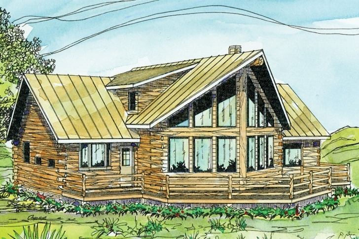 Picture of A-Frame House Plans - Aspen 30-025 - Associated Designs A Frame House Plans With Basement Pic