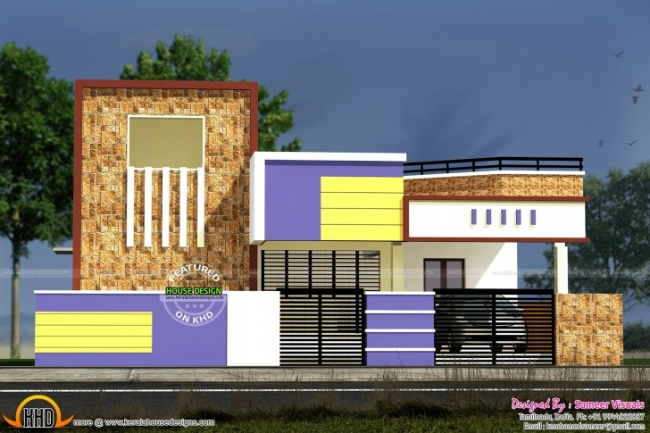 Picture of Bold Design Ideas House Plans With Photos In Tamilnadu 13 Low Budget South Indian Small House Images Photo