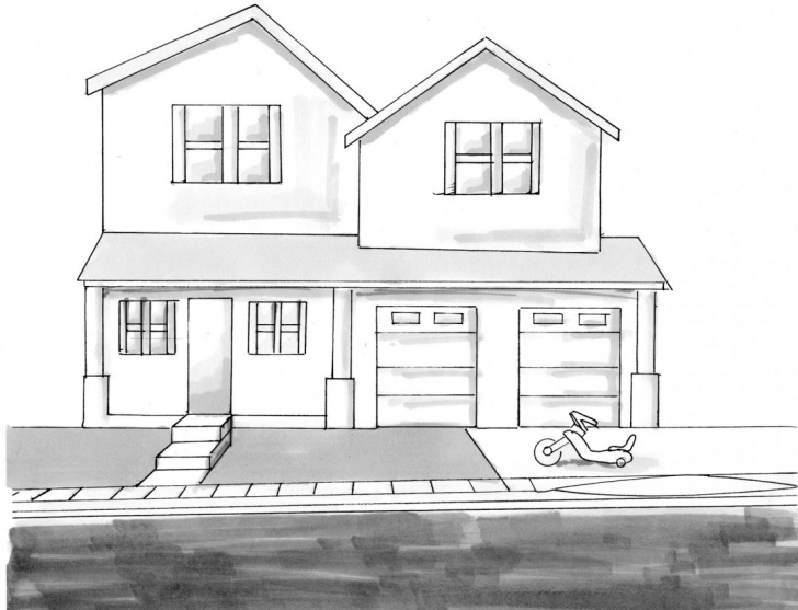 Picture of Dream House Drawing Picture Simple Sketch Architecture Of My How To How To Draw A Beautiful House Step By Step Pic