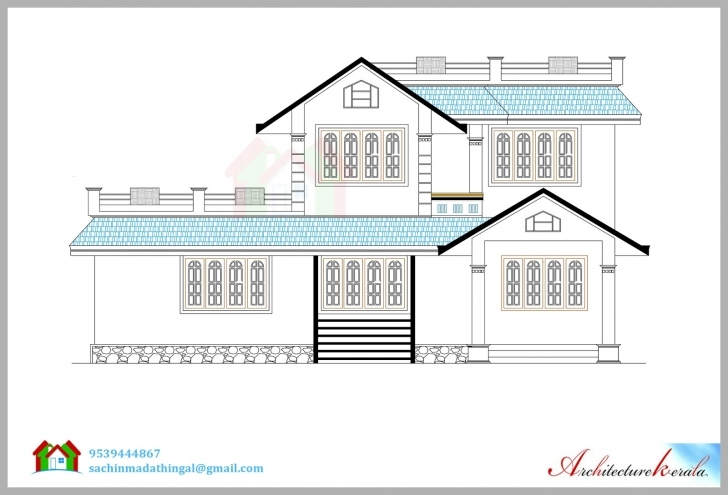 Picture of House Elevation Drawing At Getdrawings | Free For Personal Use House Planning With Elevation Image
