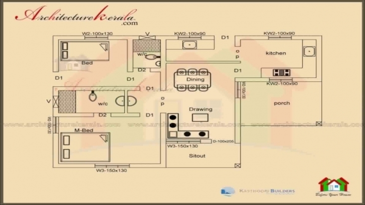 Picture of House Plans Kerala Style 1200 Sq Ft - Youtube 2 Bedroom House Plans Kerala Style 1200 Sq Feet Pic