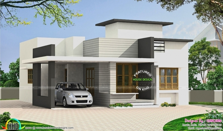 Picture of Image Result For Parking Roof Design In Single Floor Kerala House Insurance For Flat Roofed Houses Image