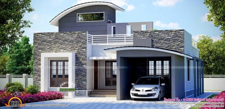 Picture of Kerala Home Design And Ideas Beautiful Single Floor House Front View Modern Single Floor House Front Design Image