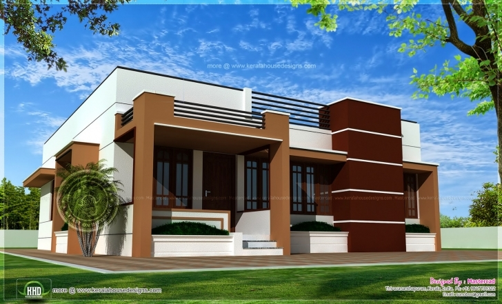 Picture of Modern House Designs And Floor Plans Free | The Best Wallpaper Of Home Elevation Single Floor Modern Picture