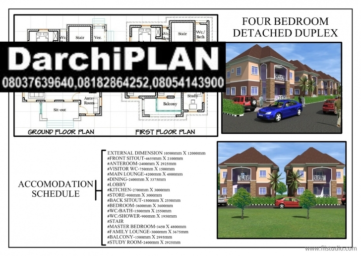 Picture of Nigeria Building Style(Architectural Designs By Darchiplan Homes 4 Bedroom Duplex On Half Plot Of Land Pic