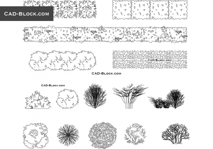 Picture of Plants Cad Blocks Free Download, Autocad 2004 Autocad 2D Plants Picture
