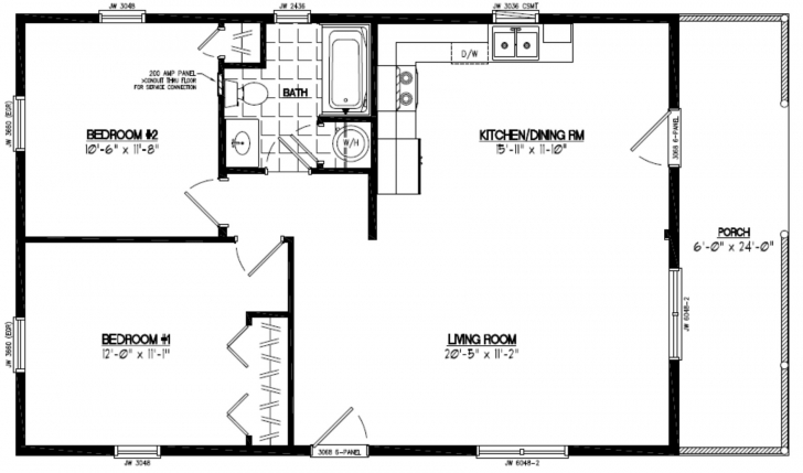 Picture of The Best 100+ 24 X 28 House Plans Image Collections 28 X 60 House Plans Image